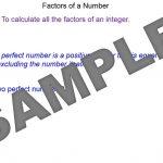 4Factors of an Integer