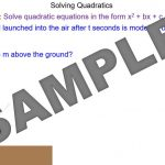 Solving Complex Quadratics by Factorising