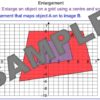 Enlargements on a Grid