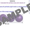 Volume And Surface Area of Spheres