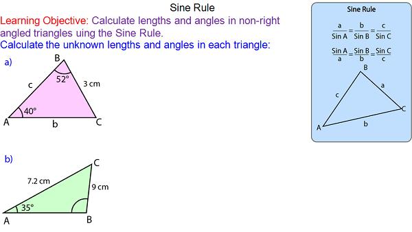 Teaching the Sine Rule