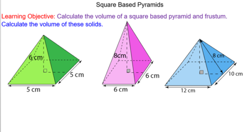 Volume of Pyramids