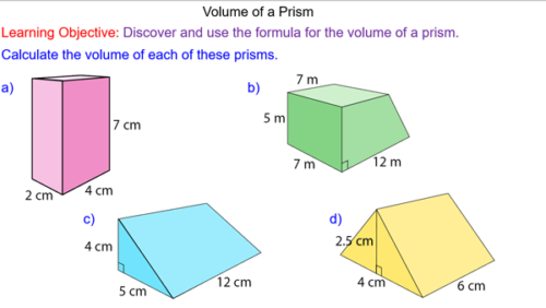 Volume of Cuboids and Prisms