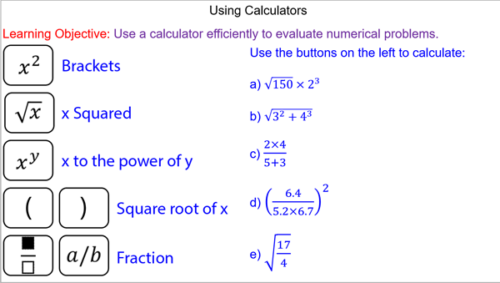 Using Calculator Efficiently