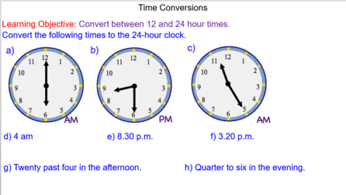 Time Conversions
