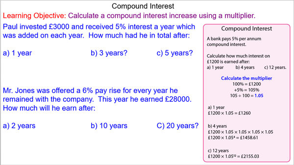 Compound Percentage Increases