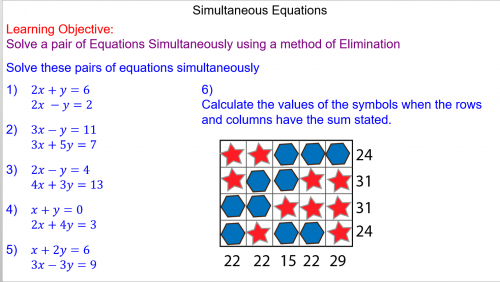 Solving Simultaneous Equations