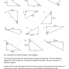Trigonometry – Lengths in Right-Angled Triangles