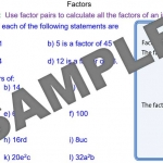 Factor Pairs of Numbers and Terms