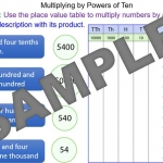 Multiplying a number by a power of ten