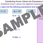 Substituting Numbers into Expressions