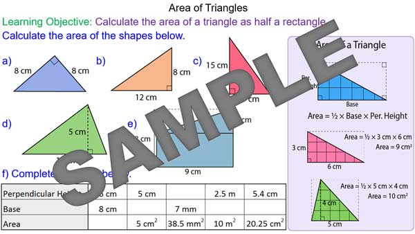 how to find the base of a triangle formula