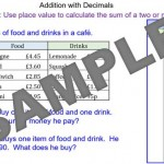 Addition with Decimal Numbers