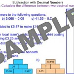 Subtraction with Decimal Numbers
