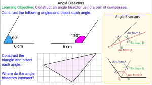 Bisecting an Angle