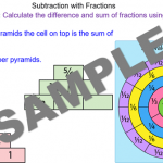 Subtracting Fractions using a Fraction Wall