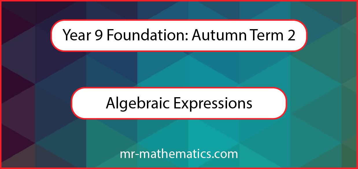 Algebraic Expessions