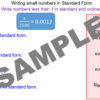 Writing small numbers in Standard Form