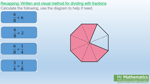 Dividing with mixed numbers and top-heavy fractions