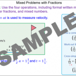 Calculations with Fractions and Mixed Numbers