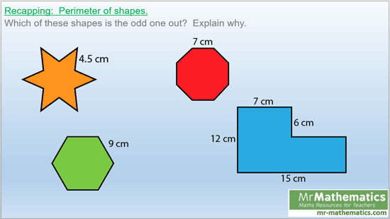 Area of rectangles for a mixed ability maths class
