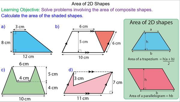 Composite Area Of 2d Shapes Mr Mathematics Com