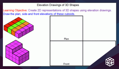 Plan and Elevation Drawings of 3D shapes - Mr-Mathematics com