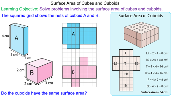 Surface Area of Cubes and Cuboids - Mr-Mathematics.com