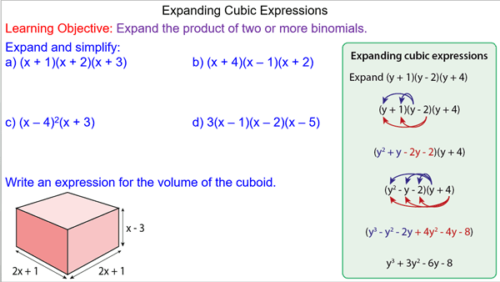 Expanding Cubic Expressions