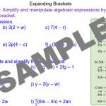Multiplying out algebraic brackets