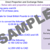 Direct Proportion and Exchange Rates