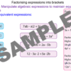 Factorising Expressions into a Pair of Brackets