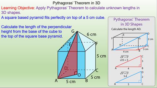 pythagoras theorem in 3d shapes mr. Black Bedroom Furniture Sets. Home Design Ideas