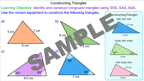 Constructing Triangles using Compasses and Protractors - Mr ...