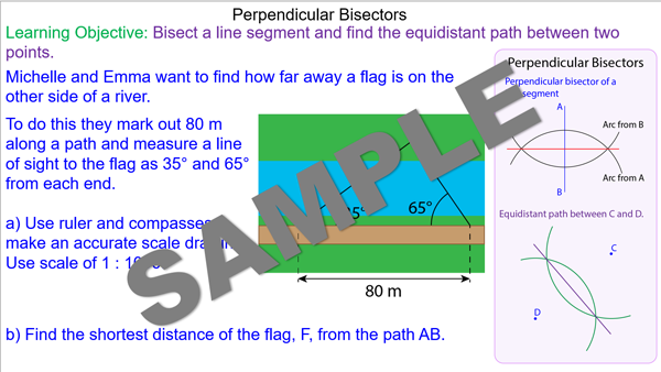 how to find equidistant points