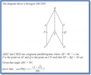 Proving Geometrical Relationships using Algebra