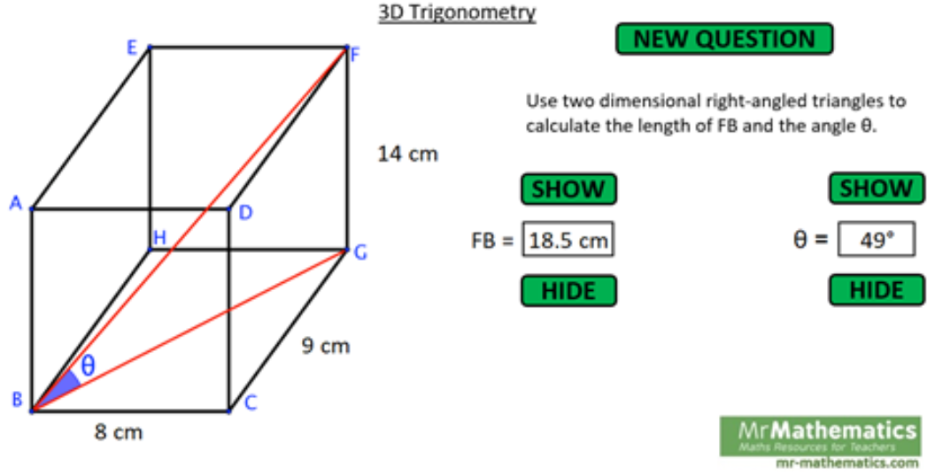 Solving 3D Problems using Trigonometry