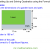 Revising Forming and Solving Quadratic Equations