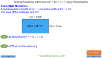 Revising Solving Complex Quadratics by Factorisation