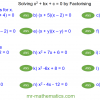 Revising Solving Quadratics by Factorisation