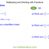 Revising Multiplication and Division of Fractions