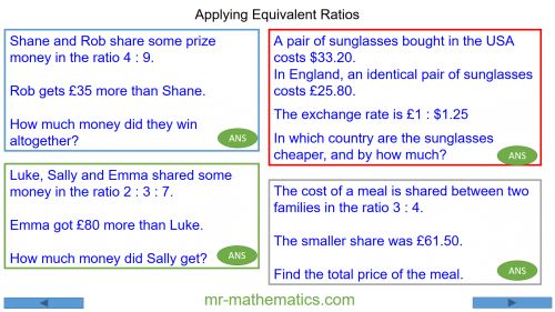 Revising Equivalent Ratios