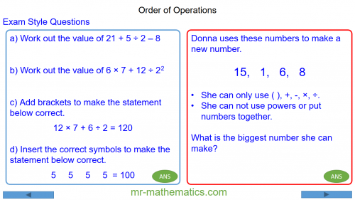Revising Order of Operations