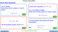 Revising Solving Inequalities