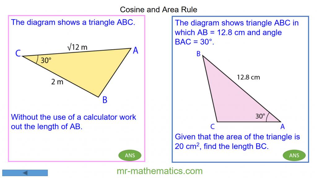 Revising the Cosine Rule