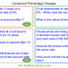 Revising Compound Percentage Changes