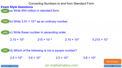 Revising Writing Numbers in Standard Form