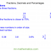 Revising Fractions, Decimals and Percentages