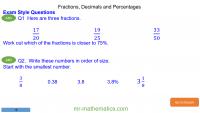 Revising Fractions, Decimals and Percentages