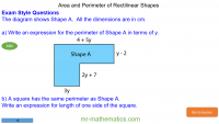 Revising the Area and Perimeter of Rectilinear Shapes
